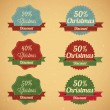 Christmas Sale Labels — Stock Vector #33022245