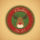 Christmas Sale Label — Stock Vector