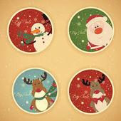 Etiquetas navideñas de venta — Vector de stock