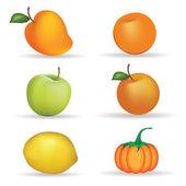 Fruits — Vector de stock