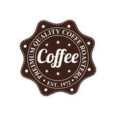 Coffee label — Stockvector