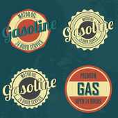 Gasoline labels — Stockvektor