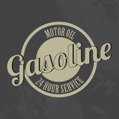 Etiqueta de gasolina — Vector de stock