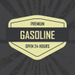 Gasoline label — Stock Vector #34505941