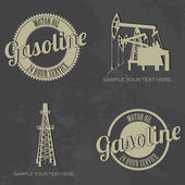 Gasoline symbols — Vector de stock