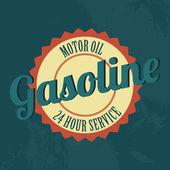 Benzine etiket — Stockvector