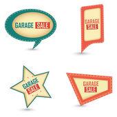 Garage sale labels — Stock Vector