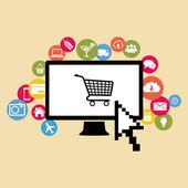 Sociální media ikony — Stock vektor