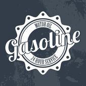 Gasoline label — Stock Vector