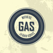 Gas label — Stok Vektör