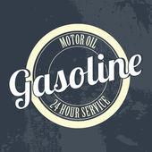 Rótulo de gasolina — Vetor de Stock