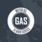 Gas label — Stock vektor