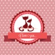 Love label — Stock Vector #36195715