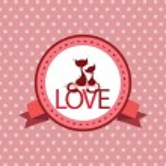 Love label — Stock Vector #36195753