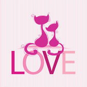 Cats in loves — Stock Vector