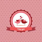 Love label — Stock Vector