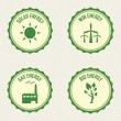 Sustainability labels — Stock Vector