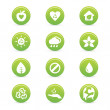 Sustainability icons — Stock Vector