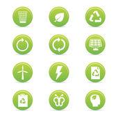 Duurzaamheid pictogrammen — Stockvector