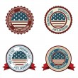 Stock Vector: President's day labels