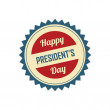 Stock Vector: President's day label
