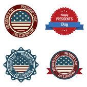 президент в день этикетки — Cтоковый вектор