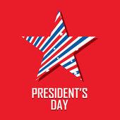 Día del Presidente — Vector de stock
