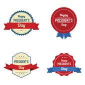 President's day labels — Vetor de Stock