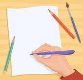 Writing hand — Stock Vector