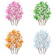 Royalty-Free Stock Vector Image: Four seasons tree