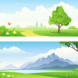Landscape banners — Stock Vector #26337313