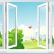 Open window — Stock Vector #26800111