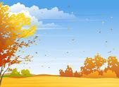 Autumn day — Stock Vector