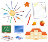 Back to school objects — Stock Vector