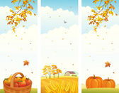 Autumn vertical banners — Stock Vector