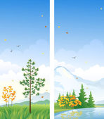 Fall vertical banners — Stock Vector