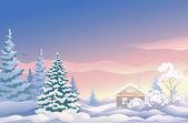 Vánoční sunrise — Stock vektor