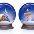 Snow globes — Stock Vector