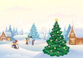 Winter fun — Stock Vector