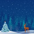 Snow scene — Vector de stock