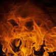 Fire and flames with imaginative abstract shape — Stock Photo