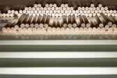 Cigarette filters prepared for filling — Foto Stock