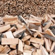 Bunch of wooden logs — Stock Photo