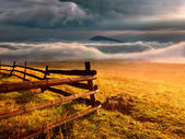 Fence - Durmitor National Park in Montenegro — Stock Photo