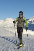 Ski touring — Stockfoto