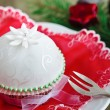 Beautiful cupcake for christmas — Stock Photo