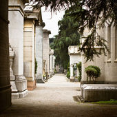 Cimitero Monumentale, Milan — Stock Photo
