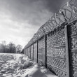 Old prison wall in Siberia — Stock Photo