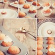 Sweet mix - Collage with different images — Stock Photo