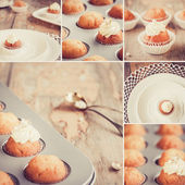 Sweet mix - Collage with different images — Fotografia Stock